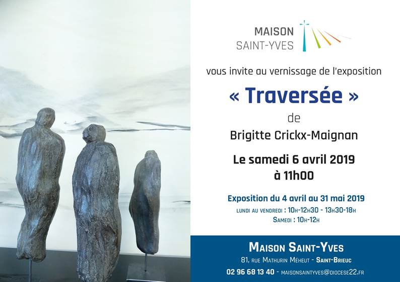 Invitation vernissage  expo Traversée le 6 avril 2019
